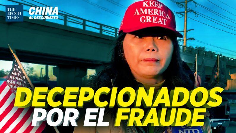 Chinos-estadounidenses protestan contra fraude en elecciones. (China al Descubierto/The Epoch Times en Español)