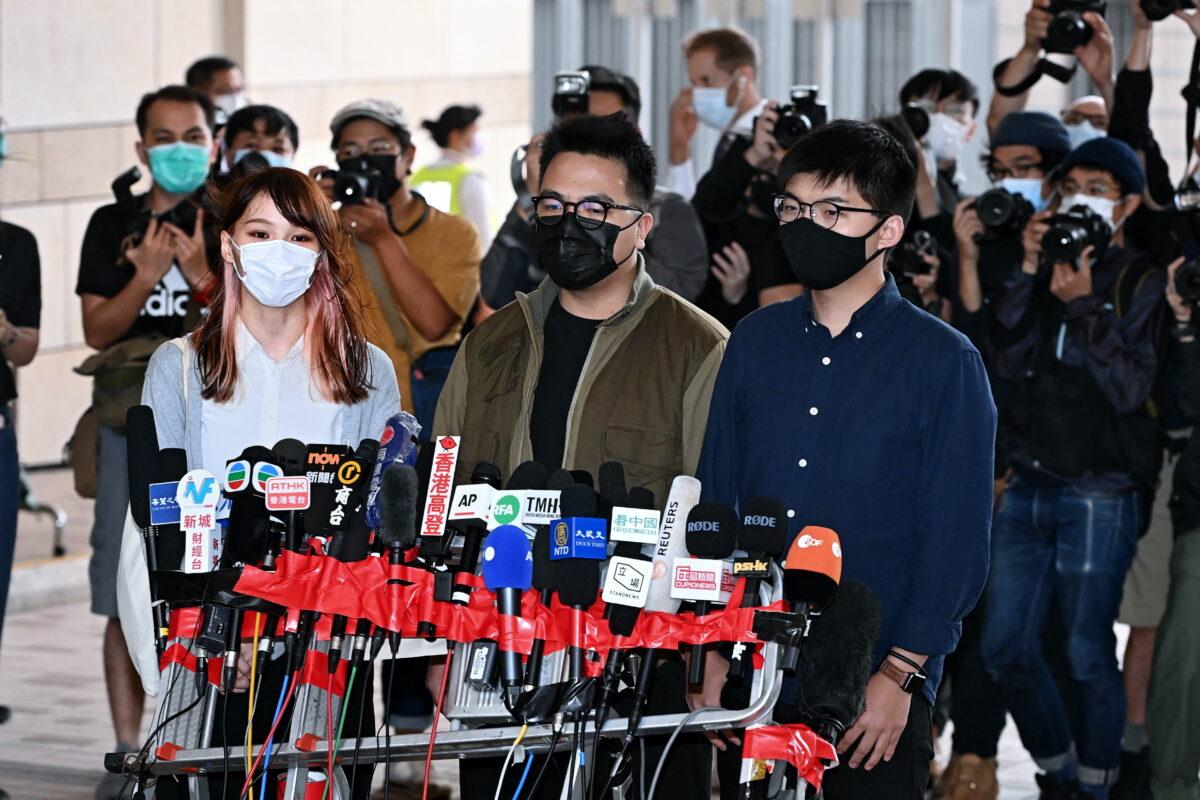 Grupos internacionales condenan la detención de 3 activistas de Hong Kong