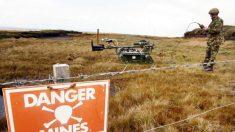 """Reino Unido declara a las Islas Malvinas """"libres de minas terrestres"""", a 38 años de la guerra"""