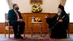 Pompeo visita Turquía y discute sobre libertad religiosa con patriarca ortodoxo Bartolomé I