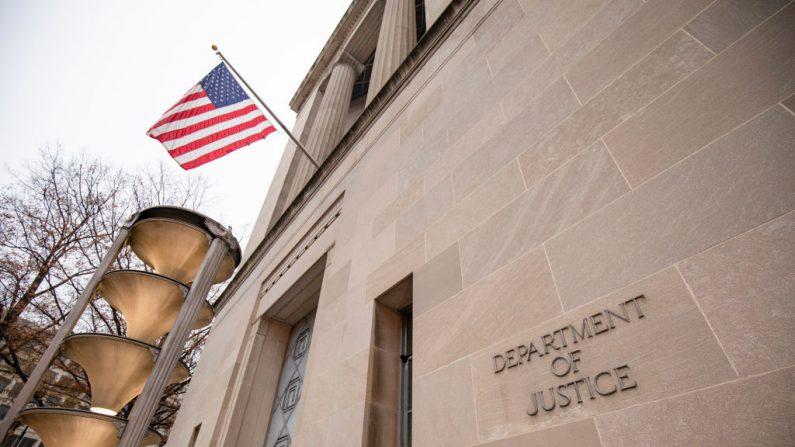 El edificio del Departamento de Justicia, el 9 de diciembre de 2019, en Washington, D.C. (Samuel Corum/Getty Images)