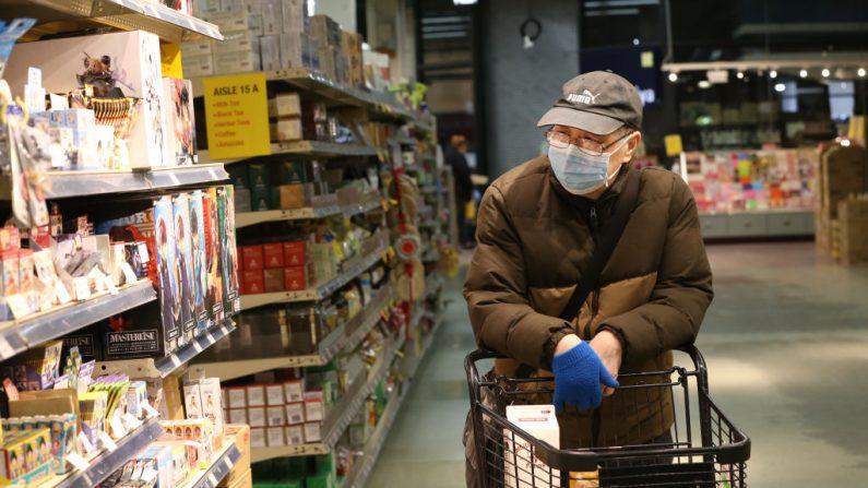 Un supermercado de especialidades asiáticas, el 18 de marzo de 2020 en Seattle, Washington (EE.UU.). (Foto de Karen Ducey / Getty Images)
