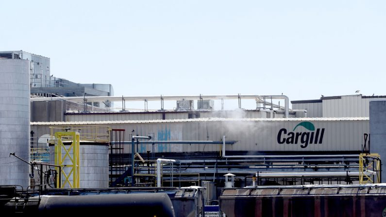 La planta empacadora de carne Cargill el 17 de abril de 2020 en Fort Morgan, Colorado. (Matthew Stockman/Getty Images)