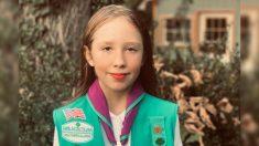 "Niña de 3º grado gana medalla de honor por salvar vida de un hombre con el lema ""prepárate"" de Girl Scouts"