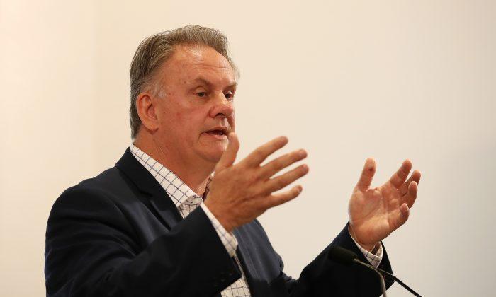 Mark Latham, ex líder del Partido Laborista Federal de 2003 a 2005, en Sydney, Australia, el 5 de octubre de 2017. (Cameron Spencer/Getty Images)