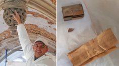 Obrero encuentra nota de 1941 escondida en techo de una iglesia con consejos para futuras generaciones