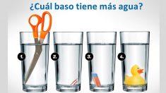 ¿Cuál vaso tiene más agua? Podría ser un genio si logra resolver este problema nivel experto