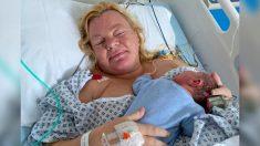 Mujer embarazada con cáncer de cuello uterino dice que su bebé le salvó la vida