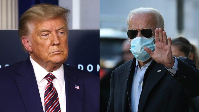 El presidente Donald Trump, izquierda, y el candidato presidencial demócrata Joe Biden en fotografías de archivo. (Getty Images)