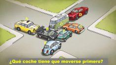 ¿Qué coche tiene que moverse primero para liberar el atasco de tráfico? ¿Puedes resolver el acertijo?