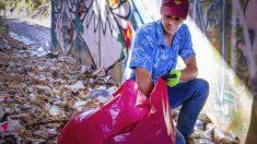 Hombre de Carolina del Norte recoge 7000 bolsas de basura e inicia un movimiento ecológico