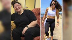 Pierde 100 libras y comparte su secreto cuando fotos del antes y después se vuelven virales