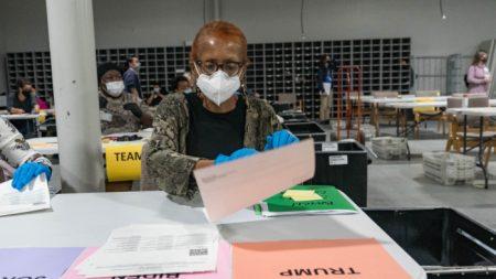 Monitor de Georgia detecta un error de 9626 votos en el recuento manual
