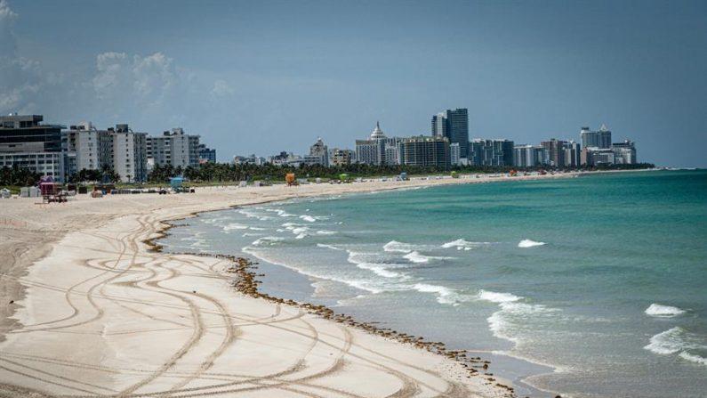 Vista de la playa de Miami Beach. EFE/ Giorgio Viera/Archivo