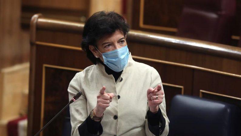 La ministra de Educación, Isabel Celaá. EFE/Kiko Huesca/Archivo