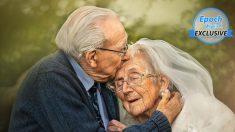 Historia de amor de 72 años de veterano de la Segunda Guerra Mundial y su esposa queda inmortalizada