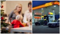Familia argentina celebra nochebuena en plena gasolinera para acompañar a papá mientras trabaja