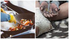 Mujer sin trabajo por la pandemia brinda comida caliente a personas sin hogar en estas fiestas