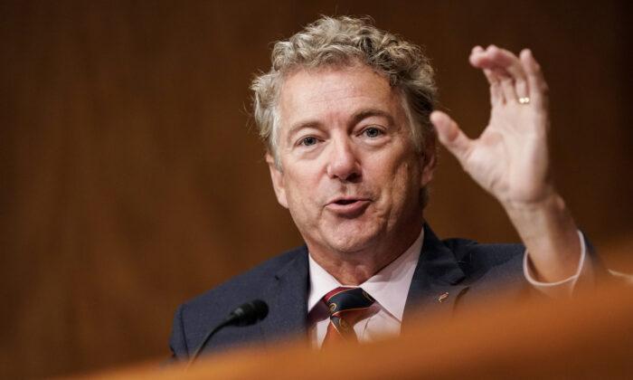 El senador estadounidense Rand Paul (R-Ky.) en el Capitolio, en Washington, el 24 de septiembre de 2020. (Joshua Roberts-Pool/Getty Images)