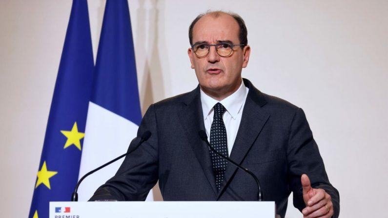 El primer ministro francés, Jean Castex, habla durante una conferencia de prensa en el Ministerio de Salud francés en París (Francia) el 12 de noviembre de 2020. (Foto de LUDOVIC MARIN / POOL / AFP a través de Getty Images)