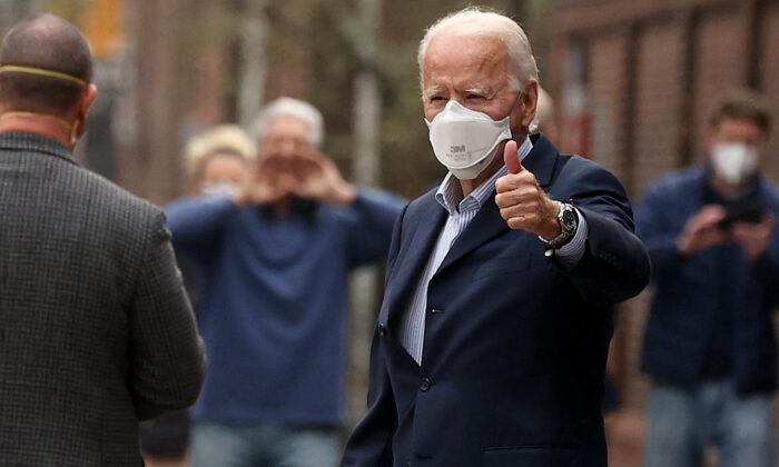El candidato presidencial Joe Biden en Filadelfia, Pensilvania, el 12 de diciembre de 2020. (Chip Somodevilla/Getty Images)
