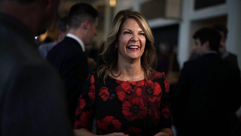 La presidenta del Partido Republicano de Arizona, Kelli Ward, asiste a un evento en National Harbor, Md., el 22 de febrero de 2018. (Alex Wong/Getty Images)