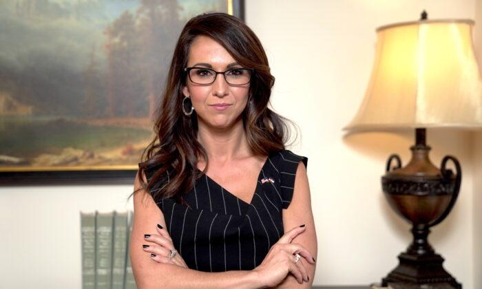 La representante electa, Lauren Boebert (R-Colo.), en Washington, el 4 de diciembre de 2020. (Tal Atzmon/The Epoch Times)