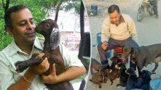 Hombre de India dedica su vida a ayudar a los animales más necesitados