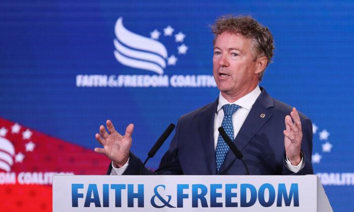 El senador Rand Paul (R-Ky.) habla en una conferencia de la Coalición de Fe y Libertad, el 27 de junio de 2019, en Washington. (Chip Somodevilla/Getty Images)