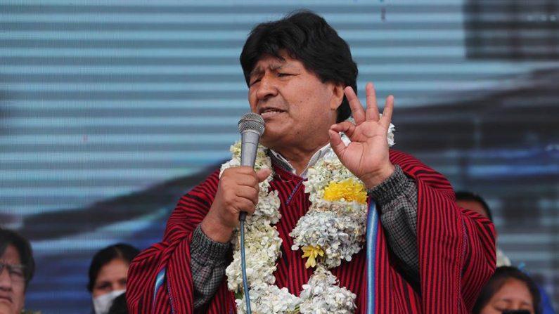 Fotografía de archivo del expresidente de Bolivia, Evo Morales. (Martín Alipaz/EFE)