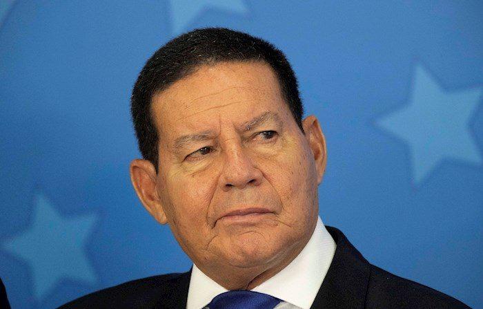 En la imagen, el vicepresidente de Brasil, Hamilton Mourao. EFE/Joédson Alves/Archivo