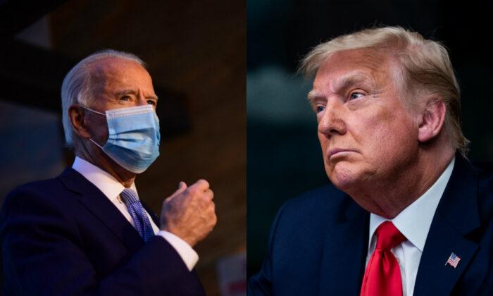 El candidato presidencial demócrata Joe Biden, a la izquierda, y el presidente Donald Trump en fotografías de archivo. (Getty Images)