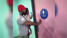 Padre dice por qué se niega a llevar a sus hijas al baño de hombres en Instagram y se hace viral