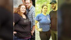Pareja con sobrepeso decide cambiar sus malos hábitos y pierden 400 libras juntos