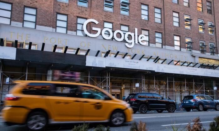 La oficina de Google en Nueva York, en el bajo Manhattan, el 20 de enero de 2021. (Chung I Ho/The Epoch Times)