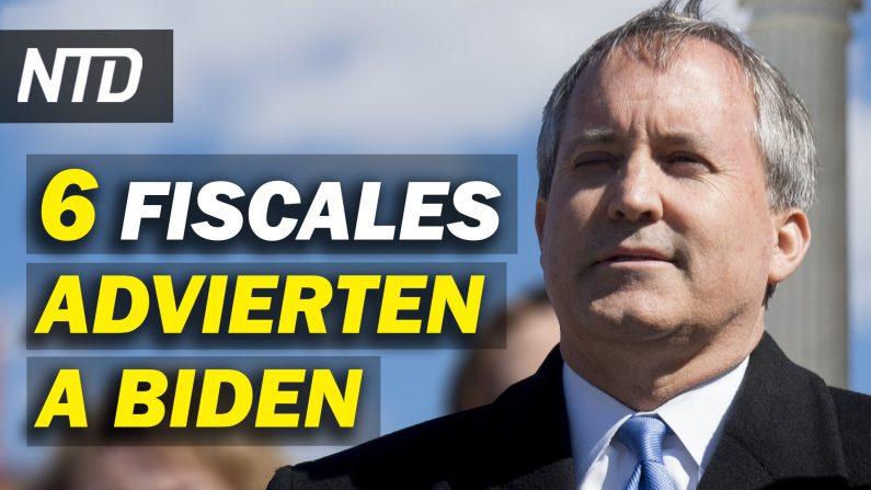Seis Fiscales generales advierten a Biden; Suspensión de muro fronterizo causará pérdidas. (NTD Noticias/NTD en Español)