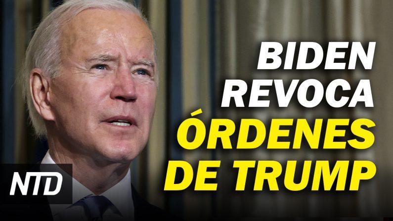 Biden revoca órdenes ejecutivas de Trump; Chuck Schumer asume como líder del Senado. (NTD Noticias/NTD en Español)