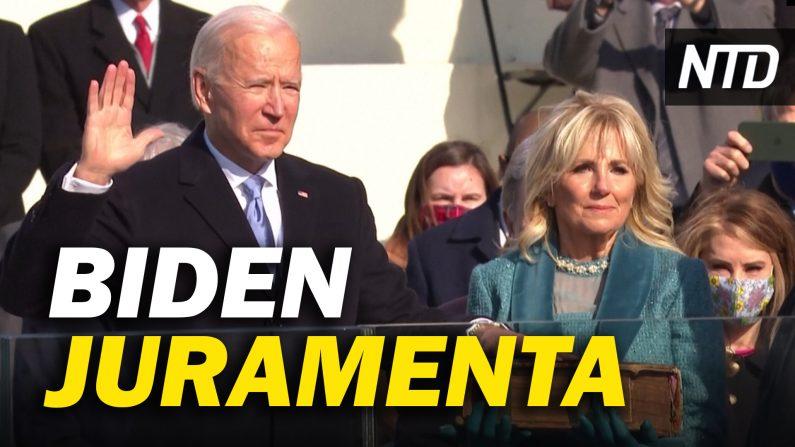 """Joe Biden asume como 46º presidente de EE. UU.; Trump: """"volveremos de alguna forma"""". (NTD Noticias/NTD en Español)"""