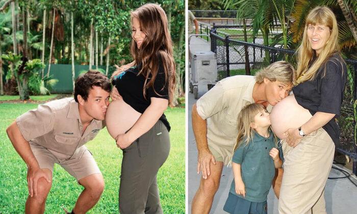 Bindi Irwin recrea una foto especial de sus padres al entrar en el tercer trimestre de su embarazo