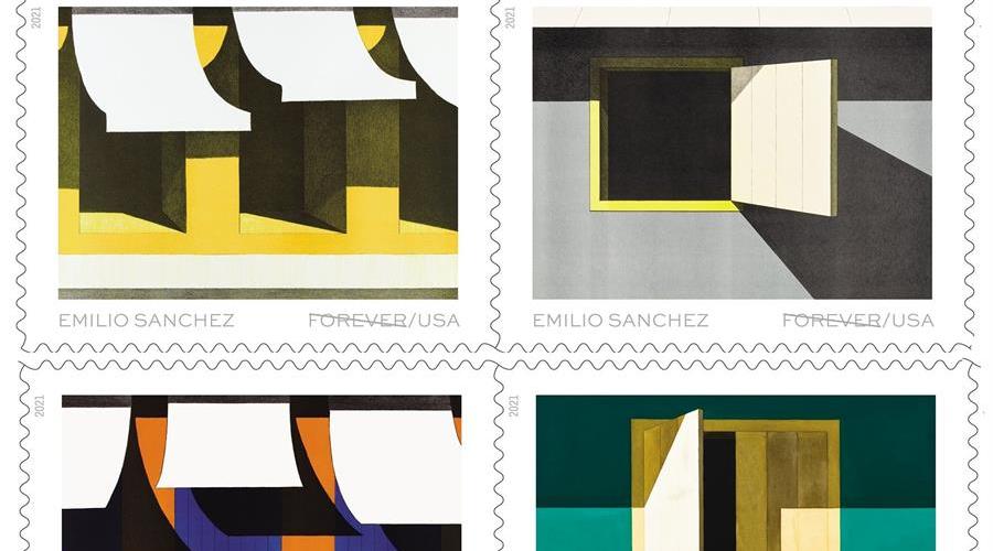 EE.UU. homenajea al pintor cubanoamericano Emilio Sánchez con sellos exclusivos