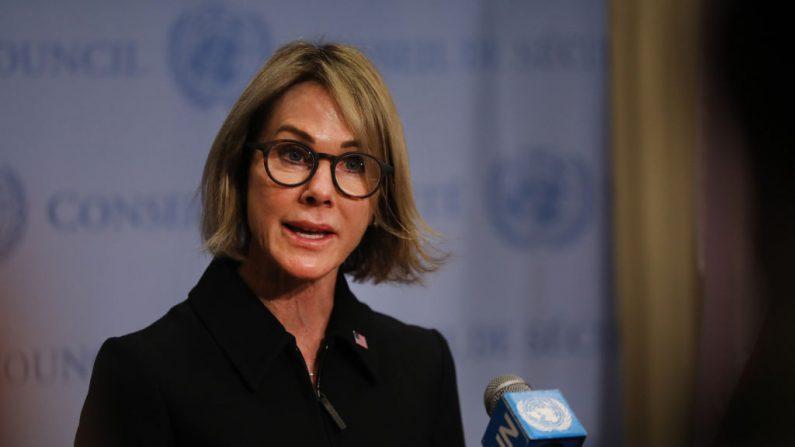 La embajadora de Estados Unidos ante las Naciones Unidas, Kelly Craft, en la sede de la ONU en la ciudad de Nueva York, el 12 de septiembre de 2019. (Spencer Platt/Getty Images)