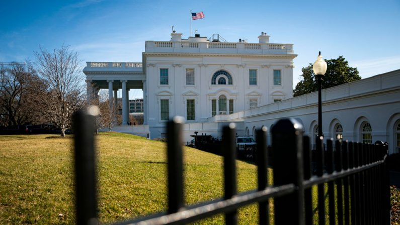 La Casa Blanca se levanta el 9 de enero de 2021 en Washington, DC. (Al Drago/Getty Images)