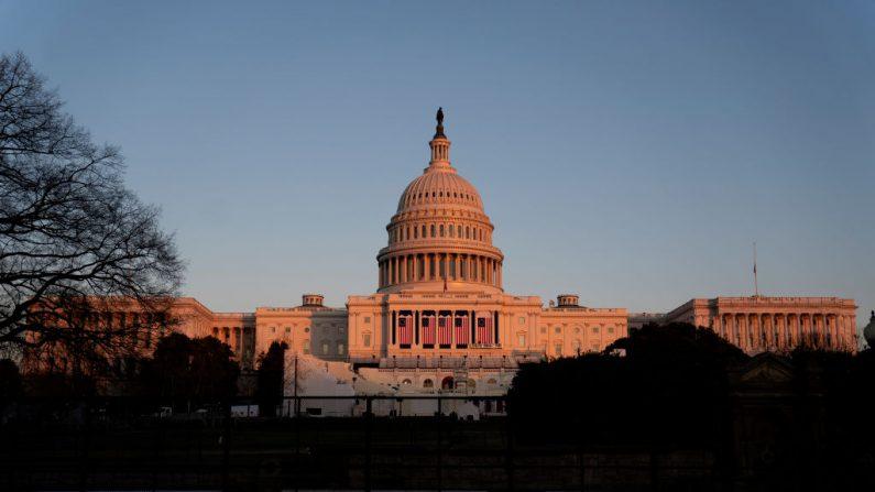 El Capitolio de los Estados Unidos, foto tomada el 12 de enero de 2021 en Washington, DC. (Foto de Stefani Reynolds / Getty Images)