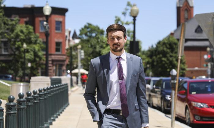 El cofundador y director ejecutivo de Parler, John Matze, en Washington el 11 de junio de 2019. (Samira Bouaou/The Epoch Times)