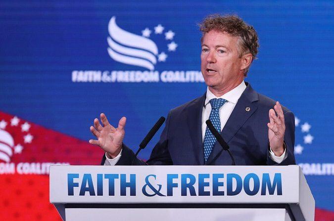 El senador Rand Paul (R-KY) se dirige a la Conferencia Política Camino a la Mayoría de la Coalición Fe y Libertad el 27 de junio de 2019 en Washington, DC. (Chip Somodevilla/Getty Images)