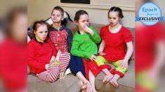 Cuatro niños con Sídrome de Down en terribles condiciones son adoptados y sus vidas prosperan