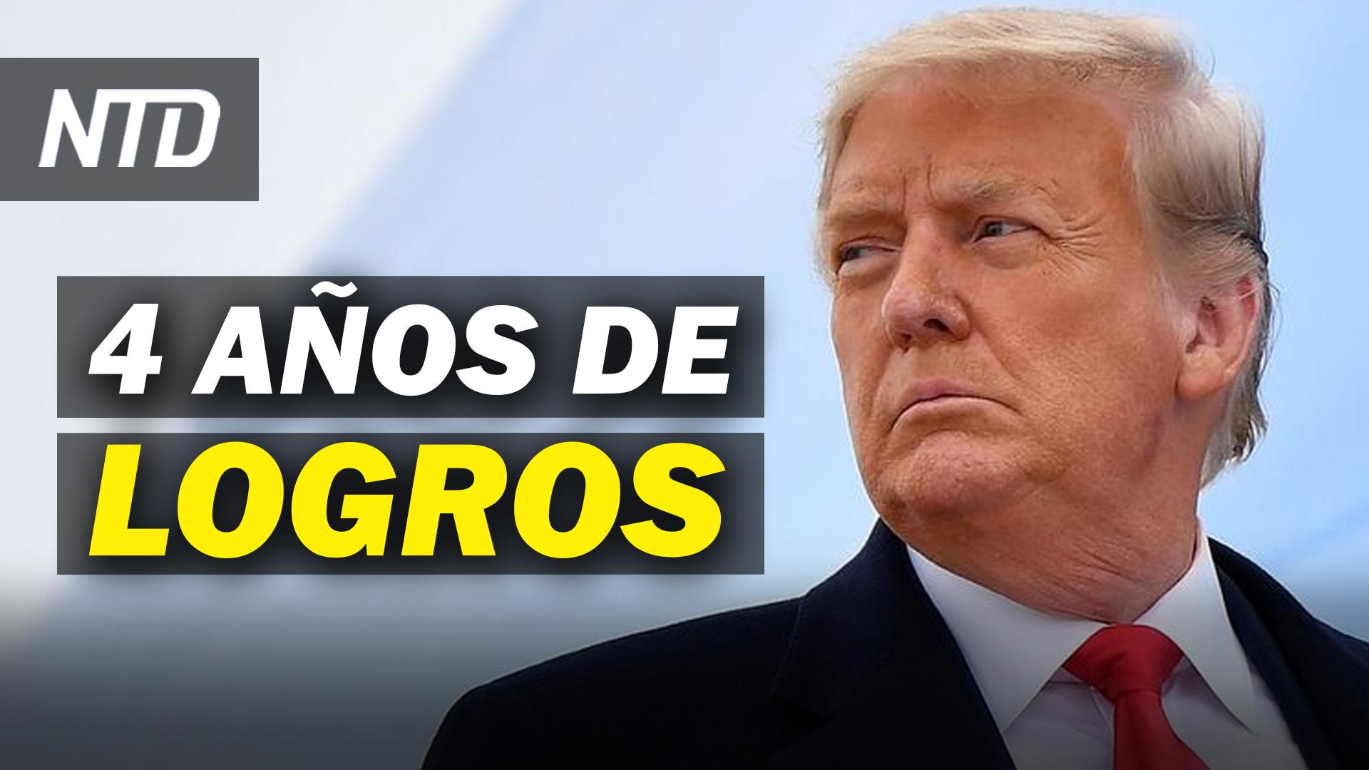 NTD Noticias: Casa Blanca publica logros de Trump; AMLO lucha contra bloqueo de las Big Tech