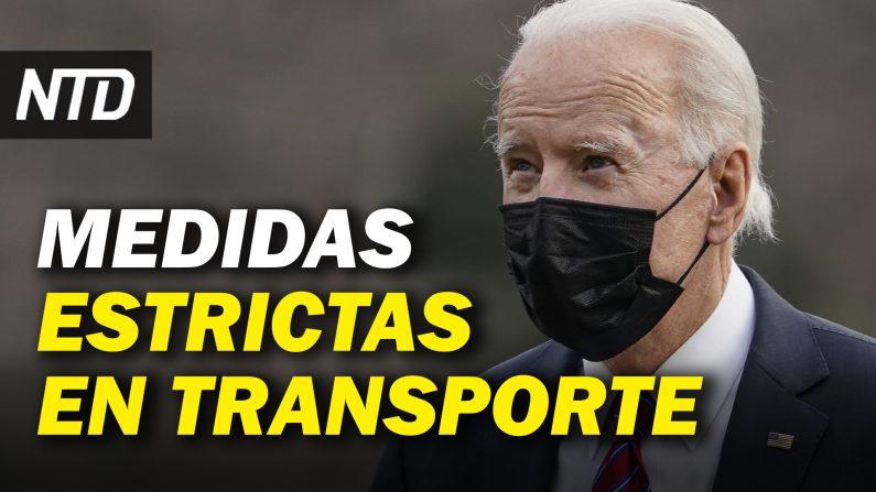 Mascarillas obligatorias para transporte; Récord histórico en firmas de Ordenes Ejecutivas. (NTD Noticias/NTD en Español)