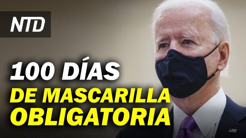 Biden ordena mascarillas obligatorias por 100 días; Protestas en Oregon durante inauguración. (NTD Noticias/NTD en Español)