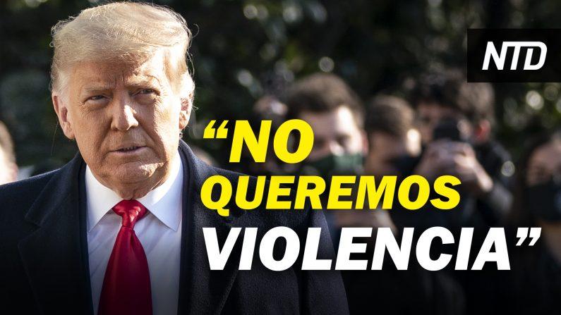 """Trump: """"No queremos violencia"""" y a días de la inauguración aprueba declaración de emergencia. (NTD Noticias/NTD en Español)"""